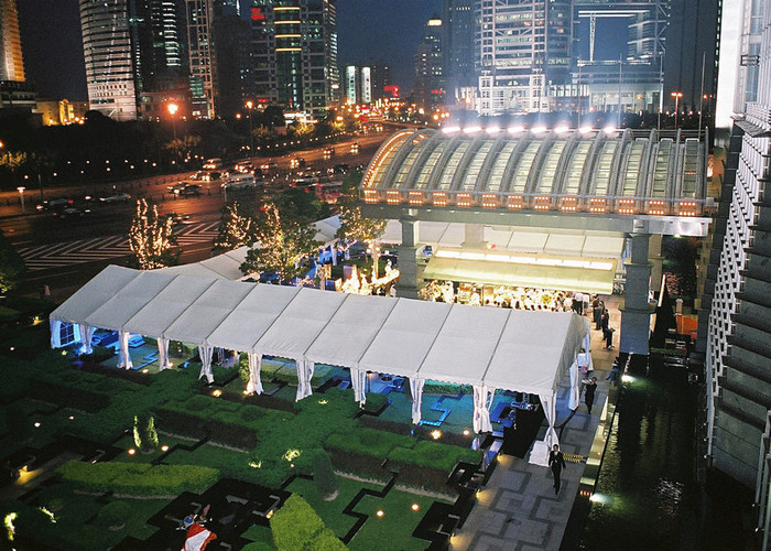White PVC Coated Wedding Reception Marquee Party Tent Aluminum Structure