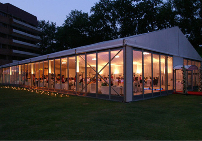 Big Outdoor Marquee Party Tents With Transparent Windows Elegant Appearance