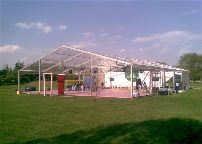 Flame Resistant Easy Assemble Clear Roof Tent For Exhibition / Trade Show