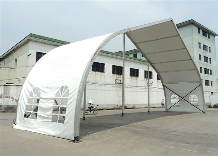 20m High Peak Peach Shaped Clear Span Tent Aluminum Frame Structure Material