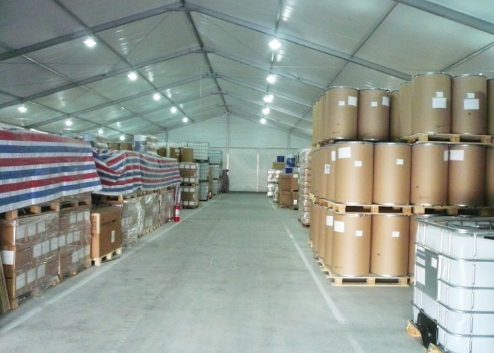 Pvc Fabric Cover Industrial Warehouse Tent , Temporary Industrial Tent Structures