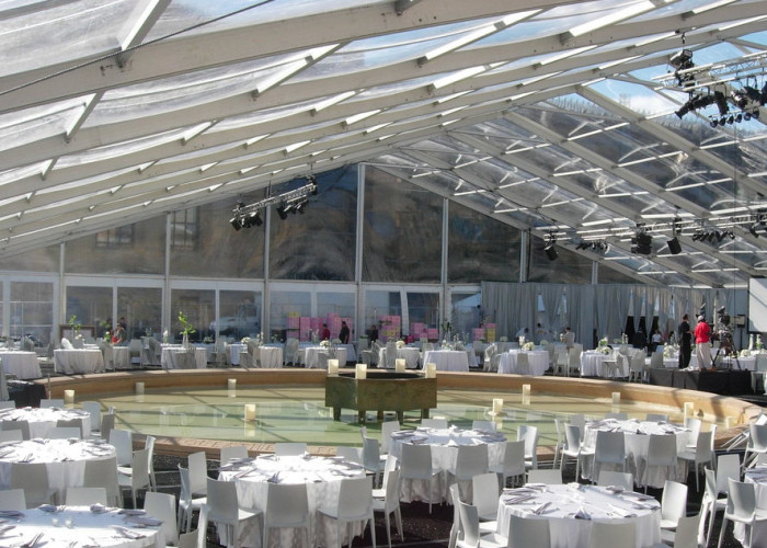 Garden Wedding Marquee Tent With Transparent Roof 500 - 600 People Capcity