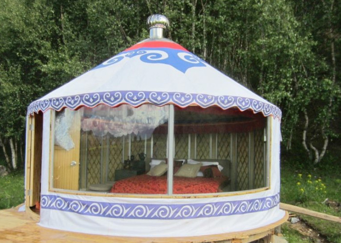 Luxury Weather Proof Mongolian Yurt Tent For Resort / Banquet / Restaurant