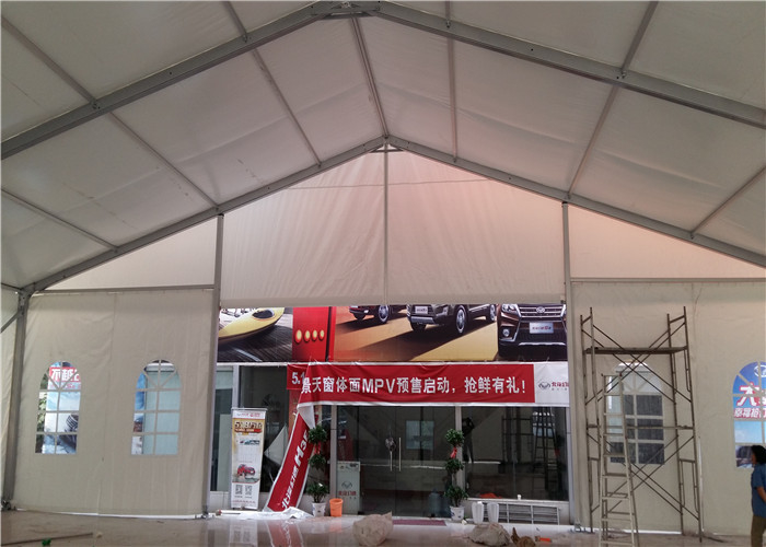 500 Seaters 10 X 30 Heavy Duty Marquee Party Tent White Color Fire Resistant