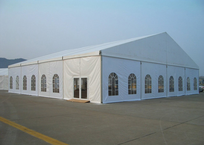Clear Span Marquee Party Tent With Windows For Wedding / Exhibition Ceremony
